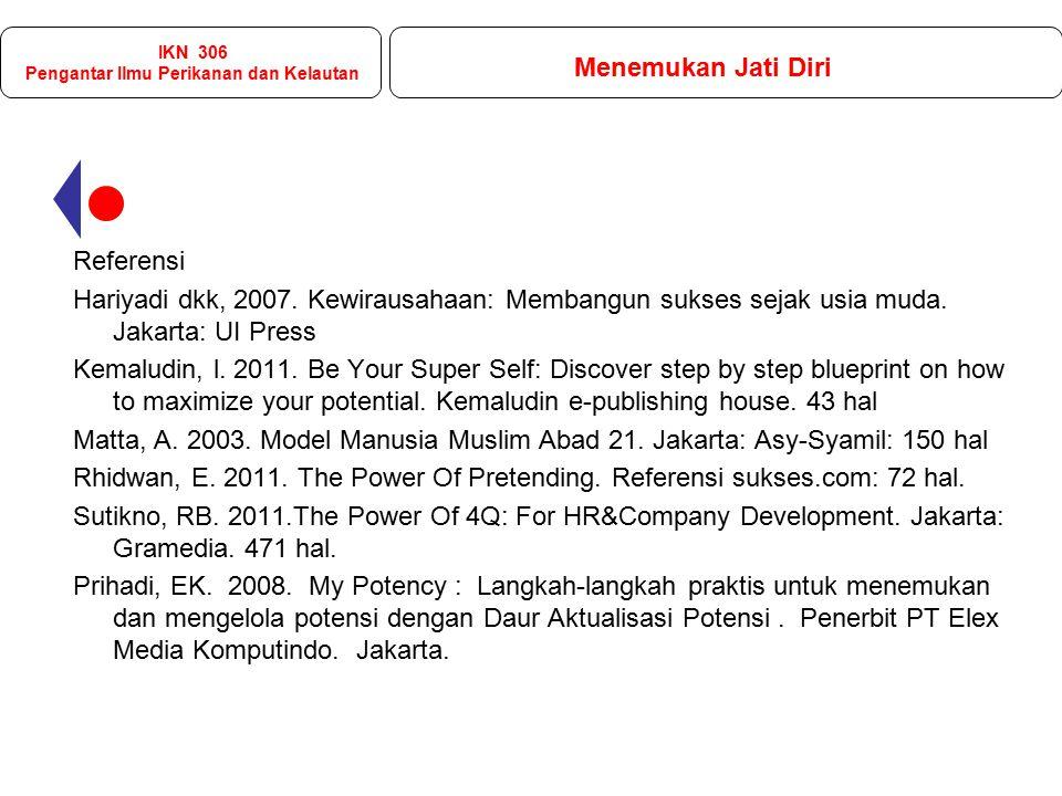 Referensi Hariyadi dkk, 2007. Kewirausahaan: Membangun sukses sejak usia muda.