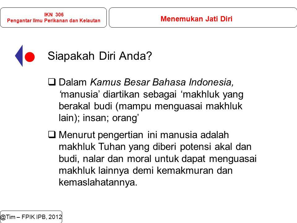 @Tim – FPIK IPB, 2012 Jati diri remaja selaku generasi penerus bangsa, jati diri ini penting untuk dibangun karena remaja memerlukan pemahaman tentang sosok dirinya yang dilahirkan dan dibesarkan sebagai insan Bangsa Indonesia.