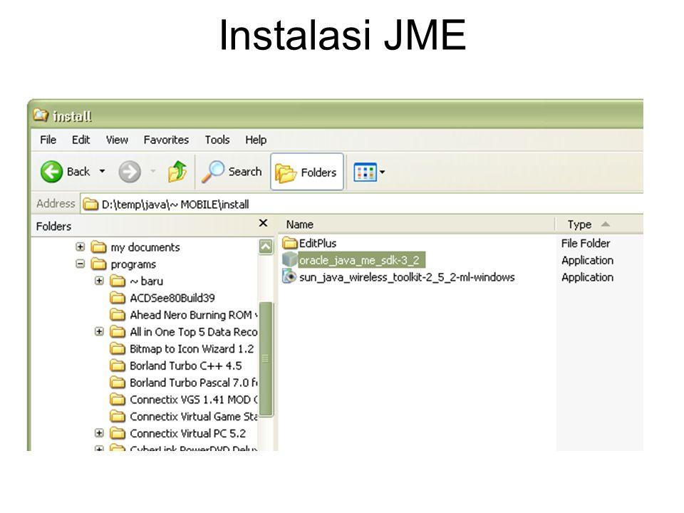 Instalasi JME