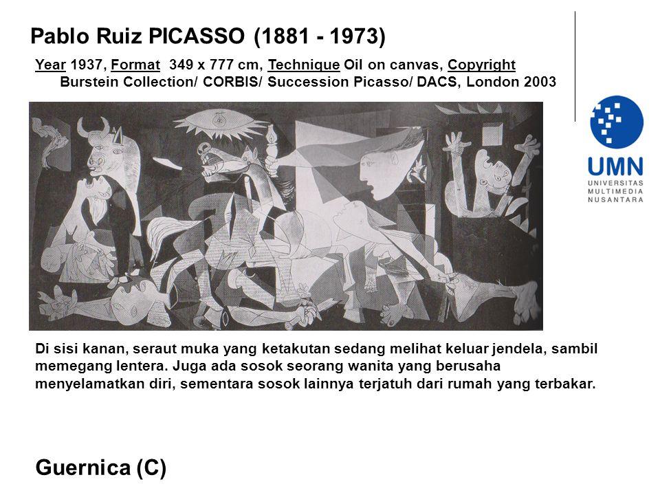 Year 1937, Format 349 x 777 cm, Technique Oil on canvas, Copyright Burstein Collection/ CORBIS/ Succession Picasso/ DACS, London 2003 Guernica (C) Pab