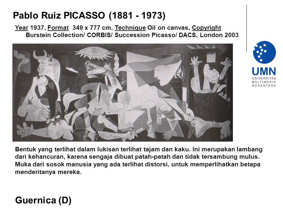Year 1937, Format 349 x 777 cm, Technique Oil on canvas, Copyright Burstein Collection/ CORBIS/ Succession Picasso/ DACS, London 2003 Guernica (D) Pab