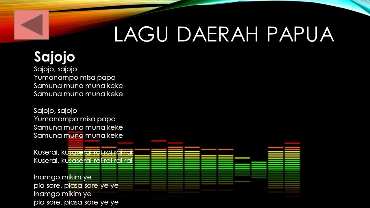 MALUKU Ciri ciri musik maluku Alat musik daerah nya Lagu lagu daerahnya Seni pergelaran Seni lainnya