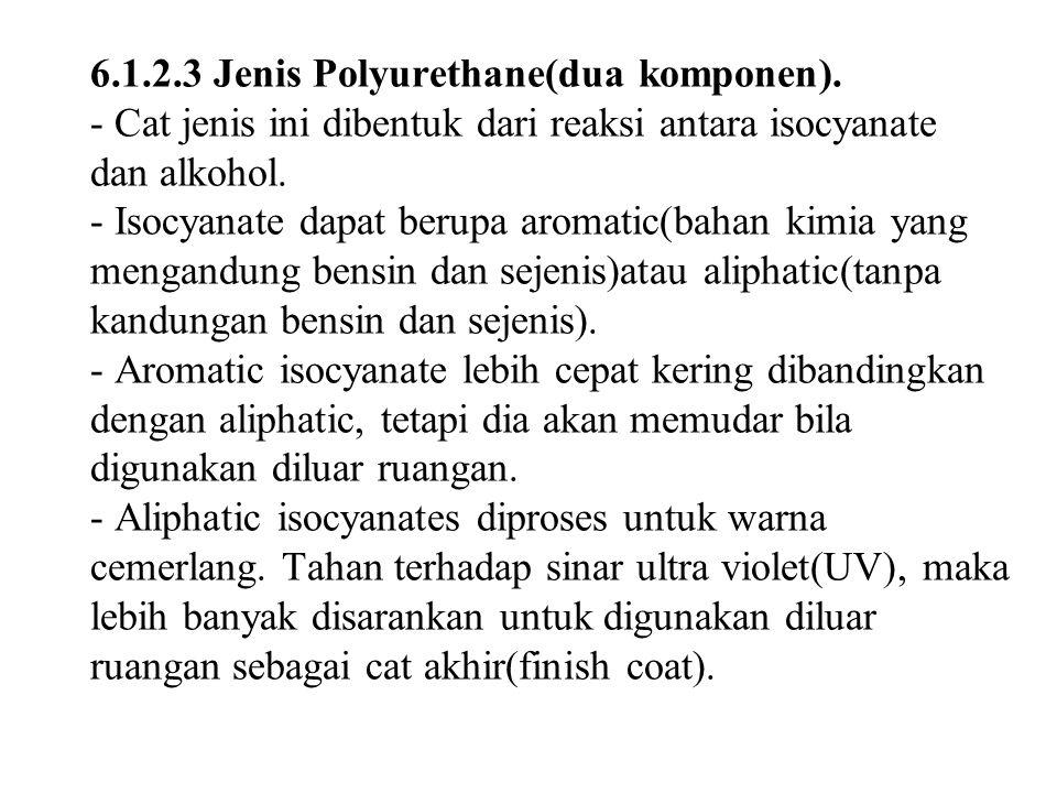 6.1.2.3 Jenis Polyurethane(dua komponen).