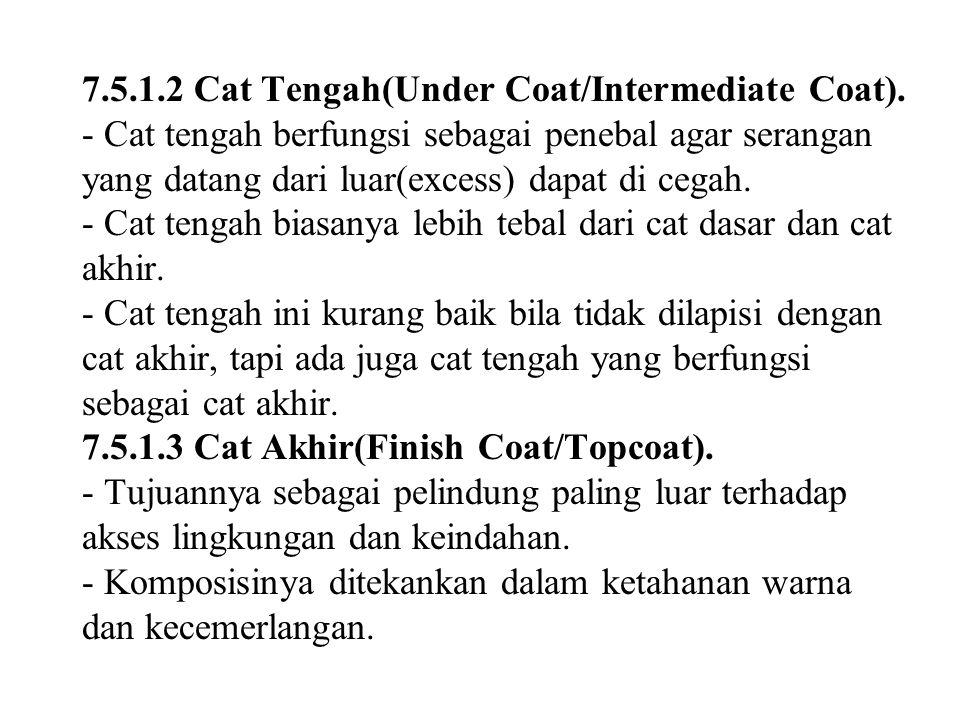 7.5.1.2 Cat Tengah(Under Coat/Intermediate Coat).