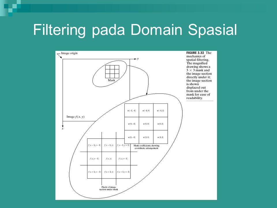 Filtering pada Domain Spasial