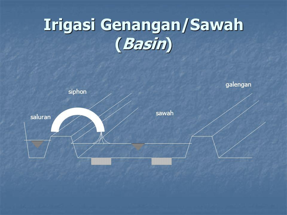 Irigasi Genangan/Sawah (Basin) sawah galengan siphon saluran