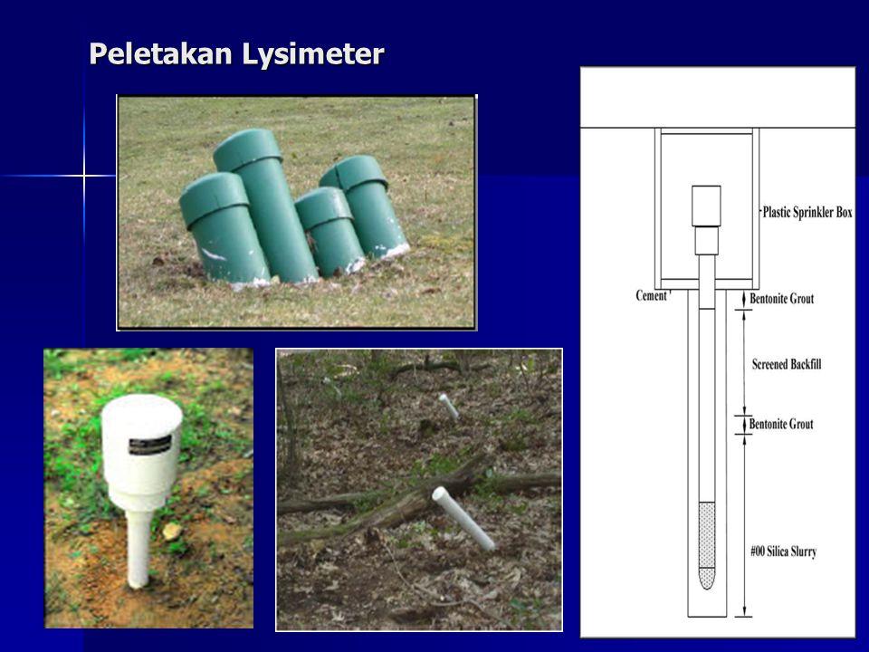 Peletakan Lysimeter