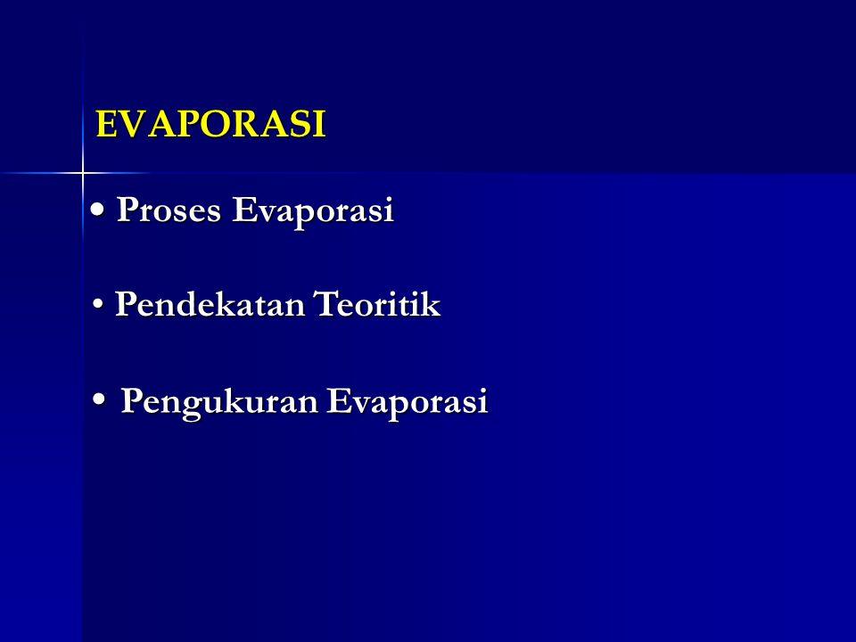 EVAPORASI Proses Evaporasi Proses Evaporasi Proses Evaporasi Proses Evaporasi Pendekatan Teoritik Pendekatan Teoritik Pendekatan Teoritik Pendekatan T
