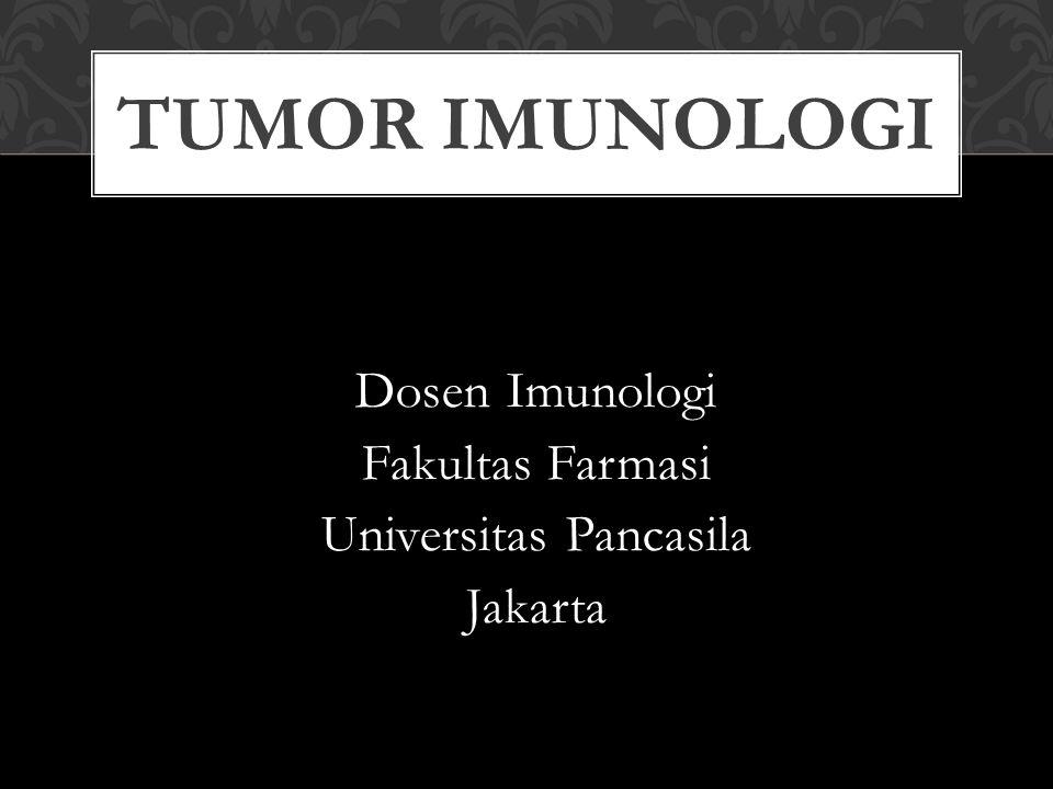 TUMOR Sel yg bereplikasi terus menerus, gagal menjadi sel yg spesifik/khas dan menjadi imortal Malignan adalah tumor yg tumbuh tdk terkendali dan menyebar (metastasis) yg disebut juga kanker Benigna adalah tumor yg tidak dapat bermetastasis
