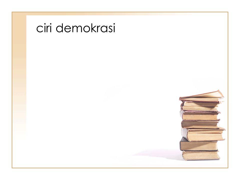 ciri demokrasi