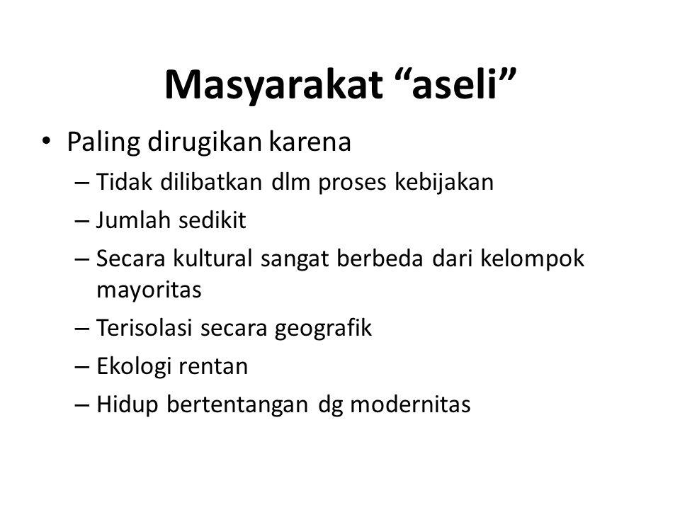 Masyarakat aseli (2) Identitas kultural + ketimpangan = resep untuk konflik Bgmn mengurangi pengucilan politik .