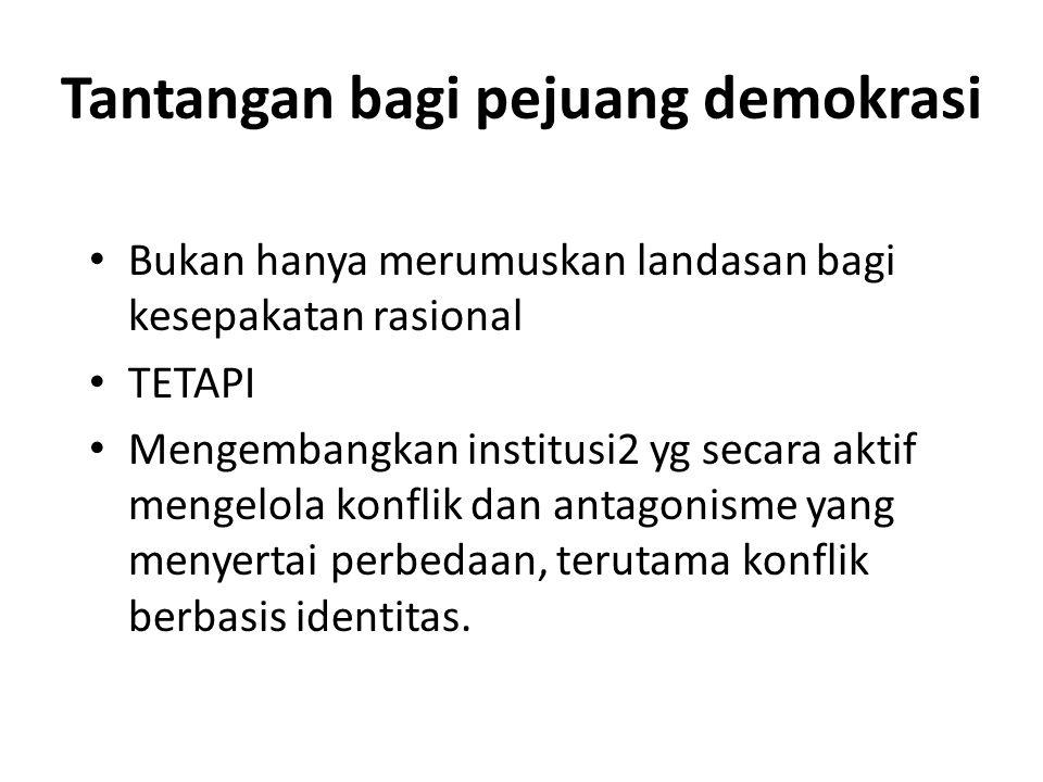 Format demokrasi apa.
