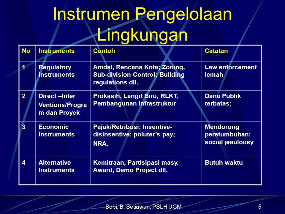 Bobi.B. Setiawan, PSLH UGM16 Beberapa Saran Kedepan 4.
