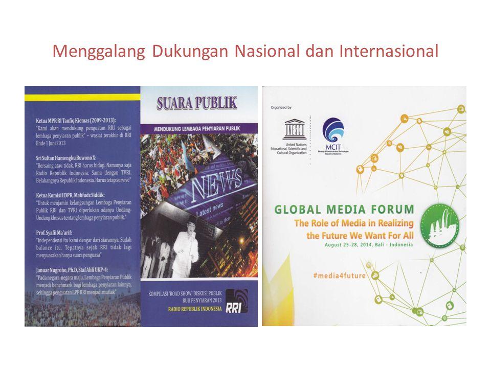Menggalang Dukungan Nasional dan Internasional