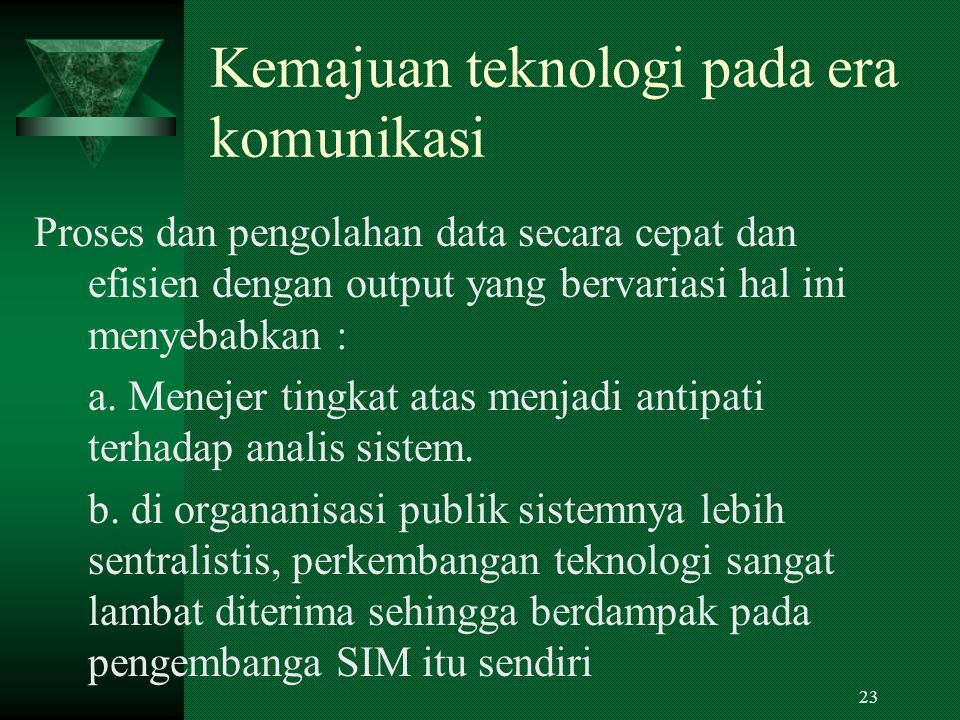 Beberapa catatan perkembangan konsep SIM dalam lingkup Adm.