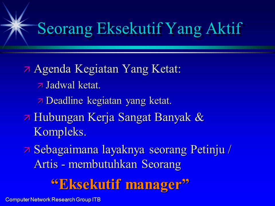 Computer Network Research Group ITB Sekretaris Idaman Eksekutif