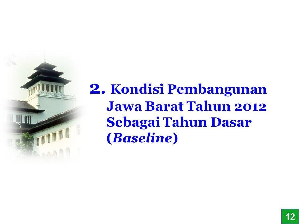 12 2. Kondisi Pembangunan Jawa Barat Tahun 2012 Sebagai Tahun Dasar (Baseline) 1212