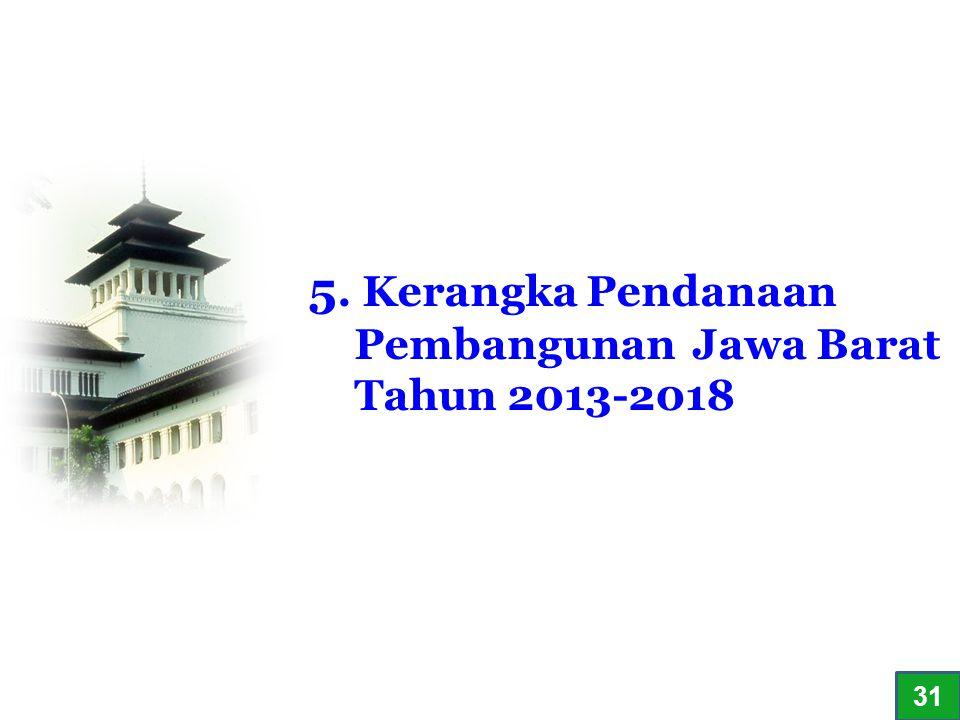 5. Kerangka Pendanaan Pembangunan Jawa Barat Tahun 2013-2018 3131
