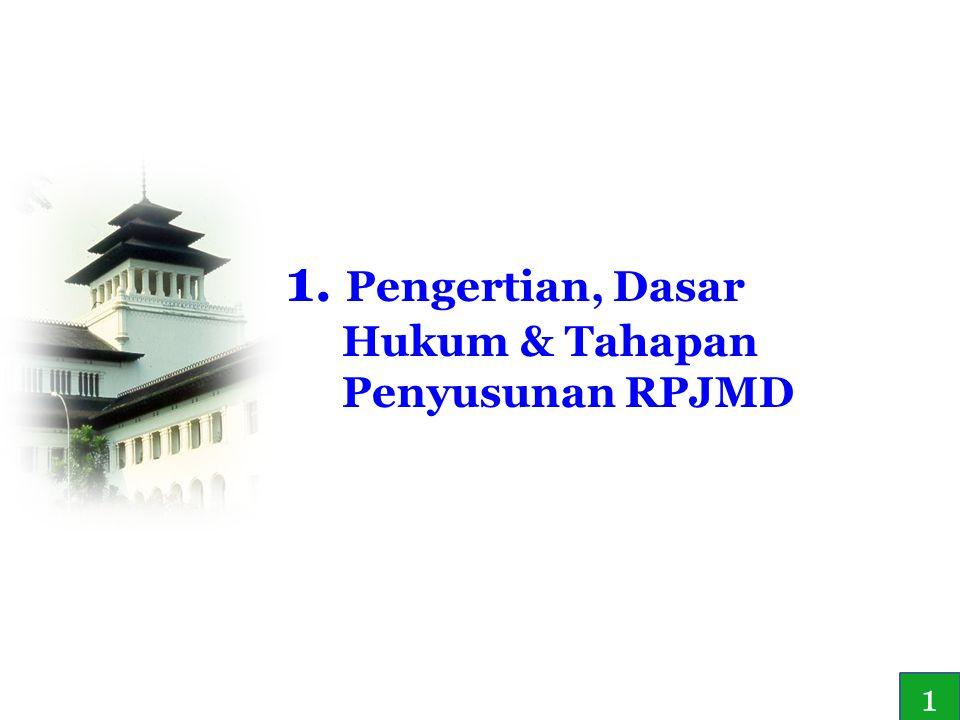 3 1. Pengertian, Dasar Hukum & Tahapan Penyusunan RPJMD 1