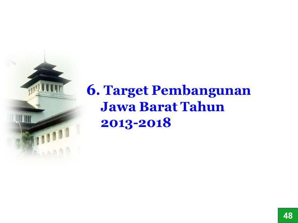 34 6. Target Pembangunan Jawa Barat Tahun 2013-2018 48