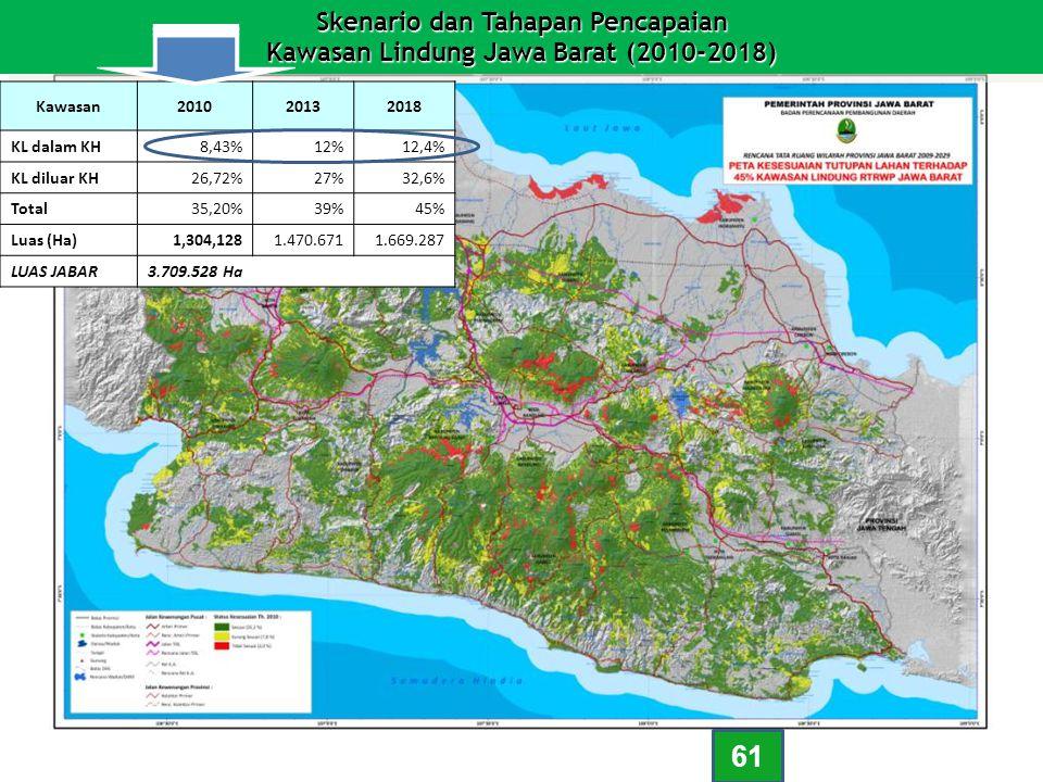Skenario dan Tahapan Pencapaian Kawasan Lindung Jawa Barat (2010-2018) Skenario dan Tahapan Pencapaian Kawasan Lindung Jawa Barat (2010-2018) Kawasan2