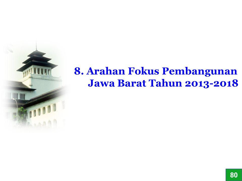 56 8. Arahan Fokus Pembangunan Jawa Barat Tahun 2013-2018 80