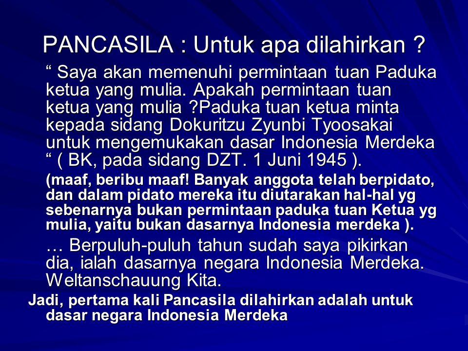 Merdeka menurut pendiri negara Indonesia 1.Berdaulat dalam politik 2.