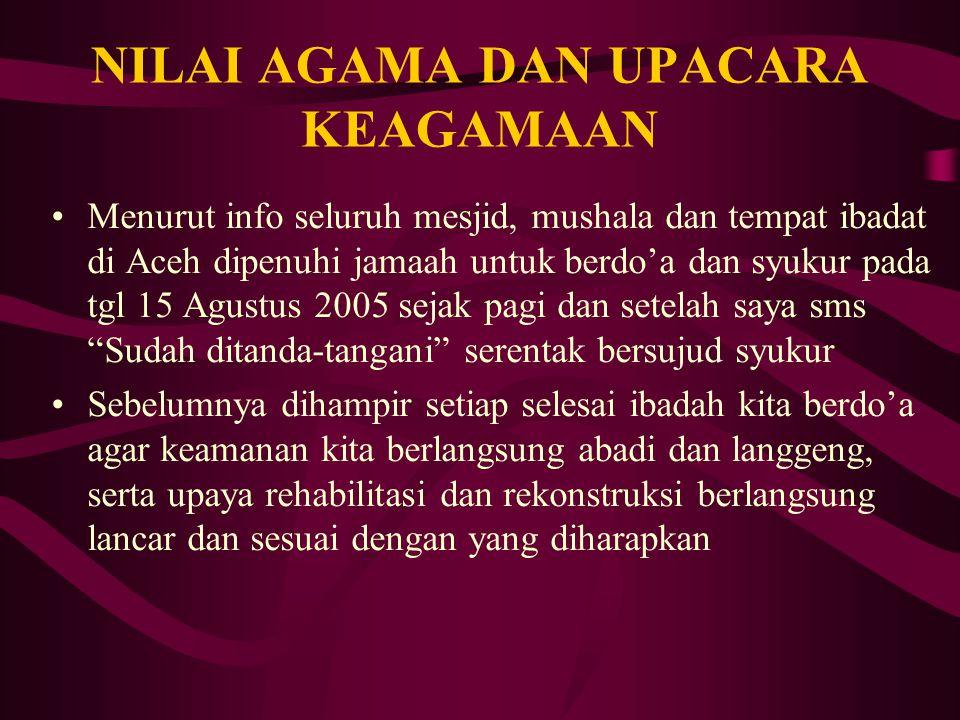 HYPOTHESA Berdasarkan pengertian, dasar, fungsi, ruang lingkup dan kelembagaan masyarakat dalam Budaya Aceh, diyakini bahwa Budaya Aceh sangat berpeng