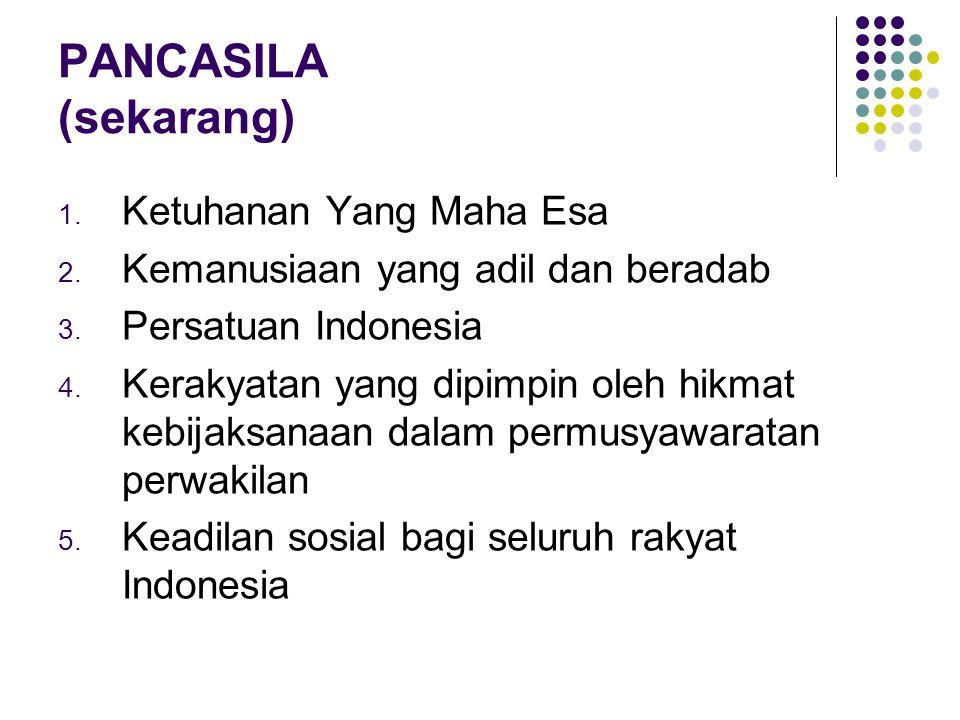 FILSAFAT PANCASILA Merupakan Filosofi bangsa Indonesia Filsafat Pancasila dipengaruhi filsafat Barat Pendiri Bangsa dipengaruhi konsep humanisme, rasionalisme, universalisme, sosial demokrasi, nasionalisme Jerman, demokrasi parlemen, dan nasionalisme