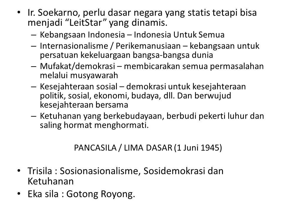 """Ir. Soekarno, perlu dasar negara yang statis tetapi bisa menjadi """"LeitStar"""" yang dinamis. – Kebangsaan Indonesia – Indonesia Untuk Semua – Internasion"""
