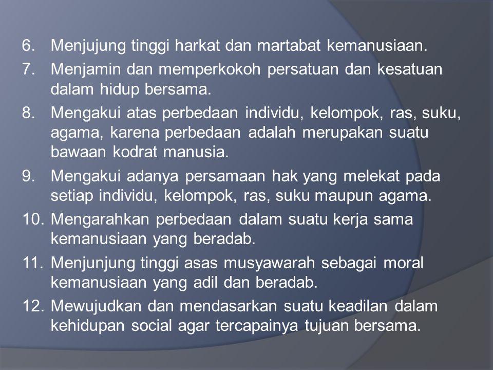 1.Sebagai warga negara dan warga masyarakat, setiap manusia Indonesia mempunyai kedudukan, hak dan kewajiban yang sama.