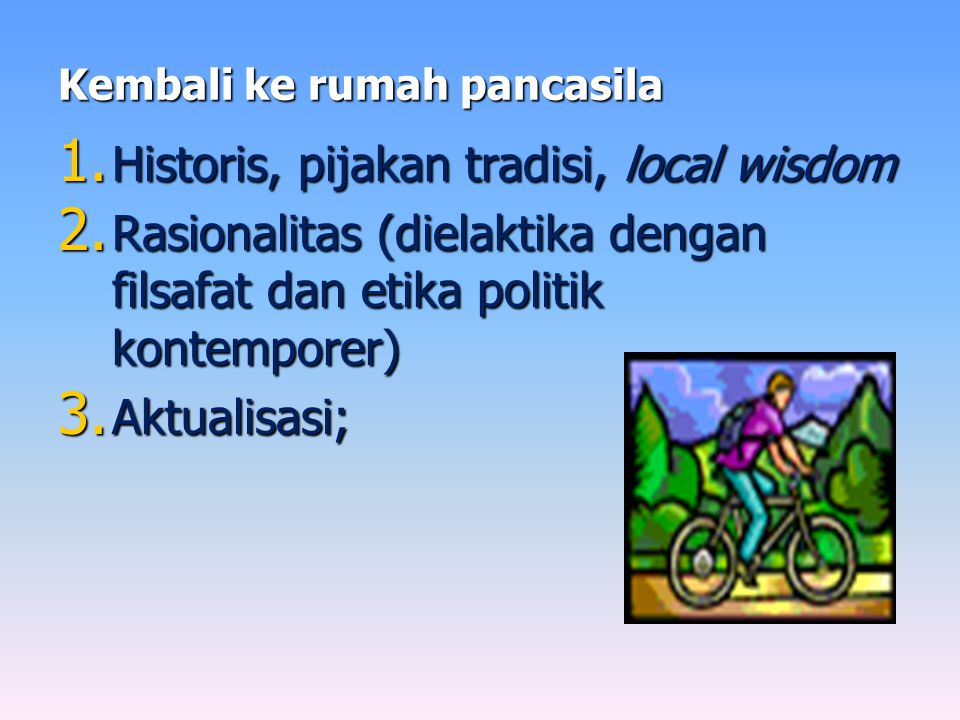 Pengabaian Pancasila.
