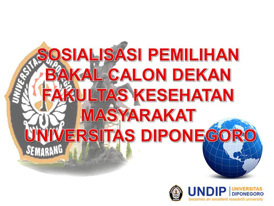 Bakal Calon Dekan adalah mereka yang memenuhi persyaratan umum dan khusus berdasarkan Peraturan Rektor Nomor 2 Tahun 2014 Peraturan Rektor Nomor 2 Tahun 2014