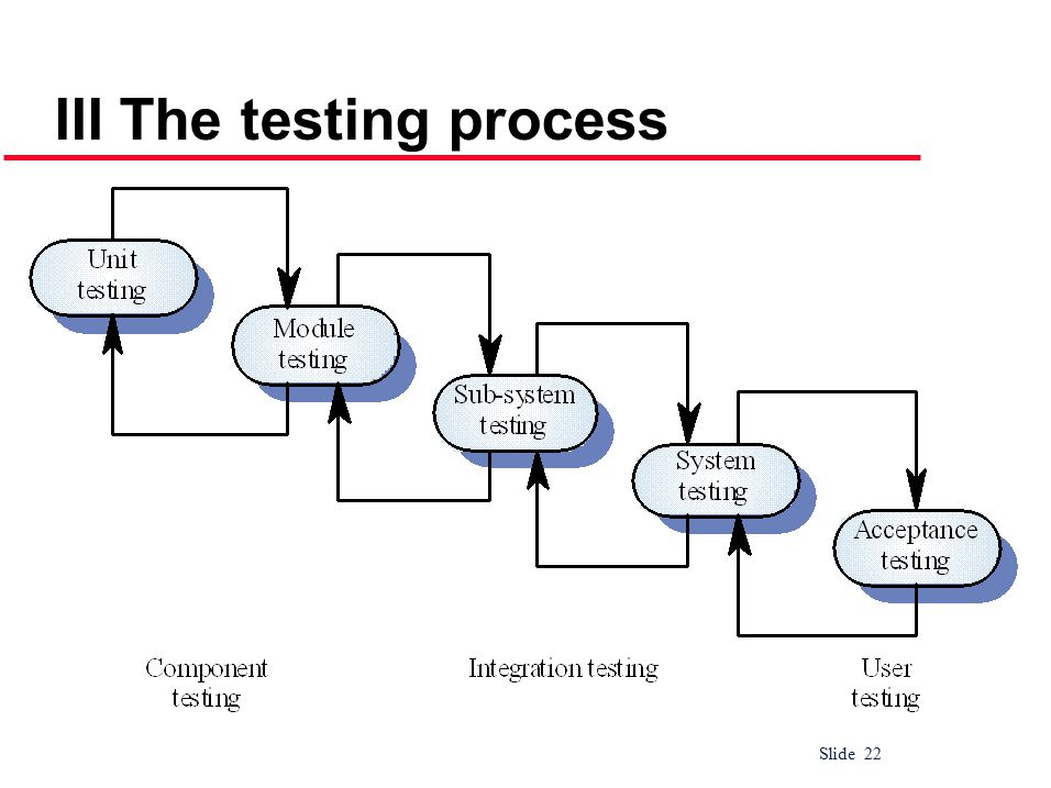 Slide 22 III The testing process