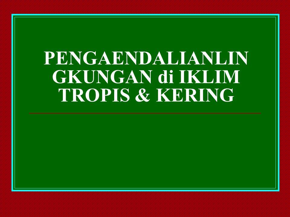 PENGAENDALIANLIN GKUNGAN di IKLIM TROPIS & KERING