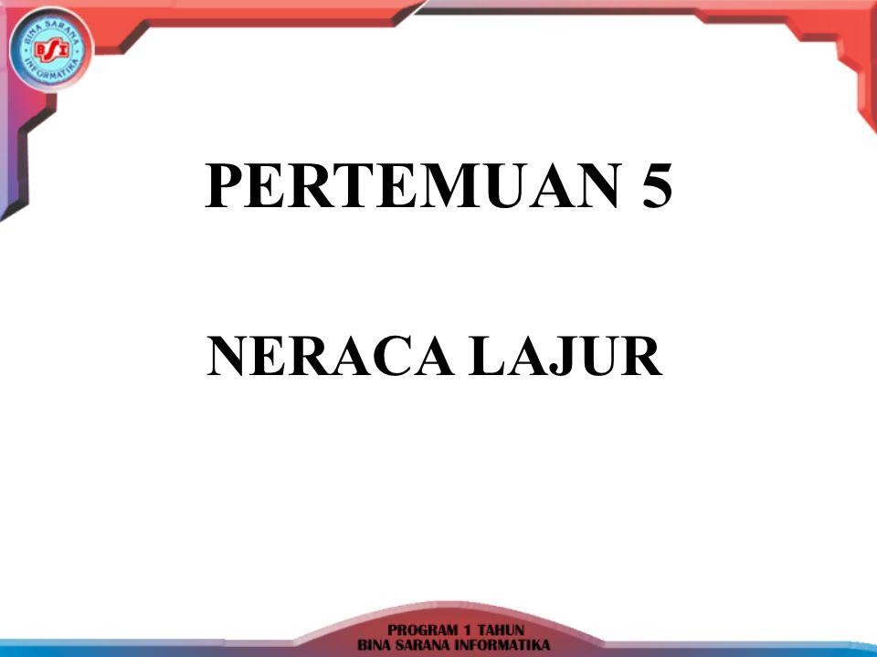  Neraca Lajur : Kertas kerja berlajur yang dapat digunakan sebagai alat bantu dalam proses penyusunan laporan keuangan.