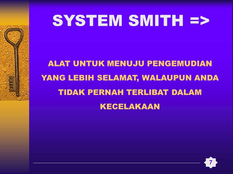 ALAT UNTUK MENUJU PENGEMUDIAN YANG LEBIH SELAMAT, WALAUPUN ANDA TIDAK PERNAH TERLIBAT DALAM KECELAKAAN 7 SYSTEM SMITH =>