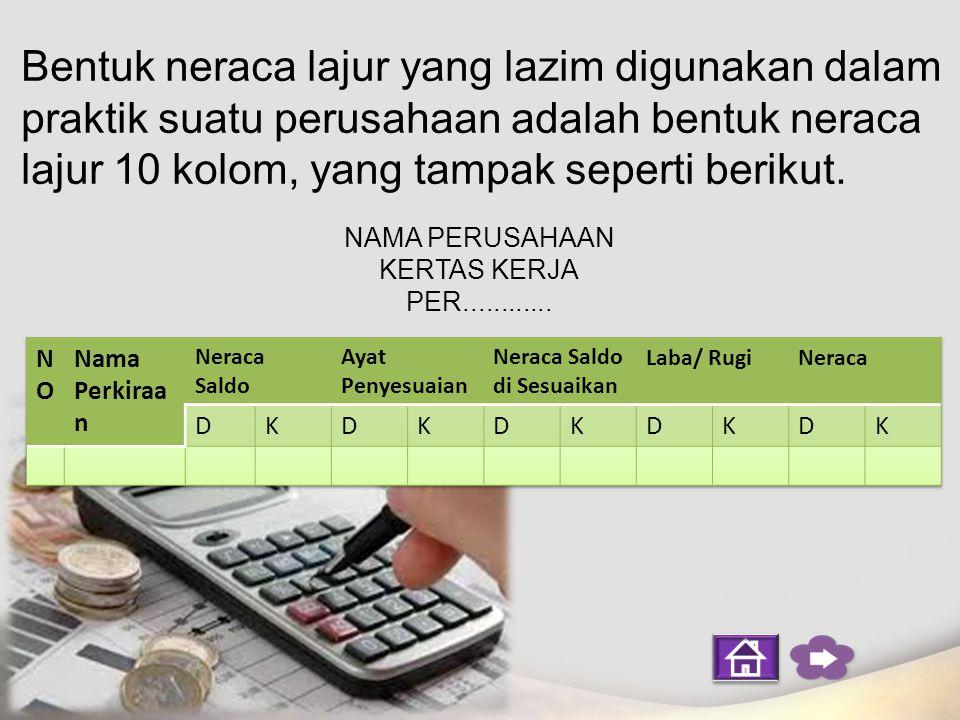 Tujuan penyusunan neraca lajur di antaranya sebagai berikut : 1.Untuk memudahkan penyusunan laporan keuangan.