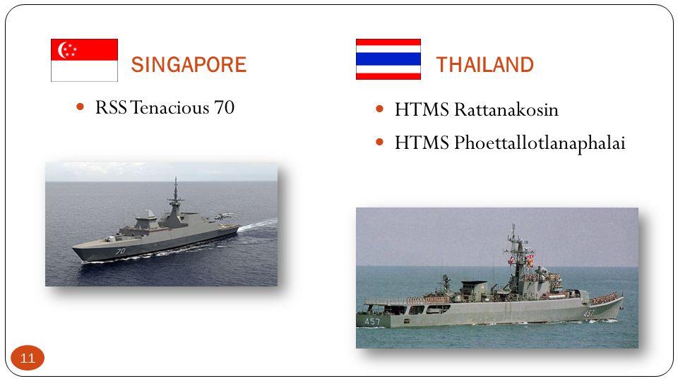 SINGAPORETHAILAND RSS Tenacious 70 HTMS Rattanakosin HTMS Phoettallotlanaphalai 11