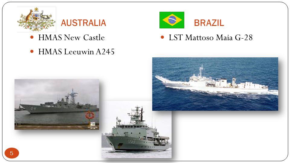 AUSTRALIABRAZIL HMAS New Castle HMAS Leeuwin A245 LST Mattoso Maia G-28 5