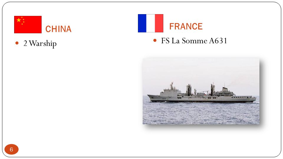 CHINA 2 Warship FRANCE FS La Somme A631 6