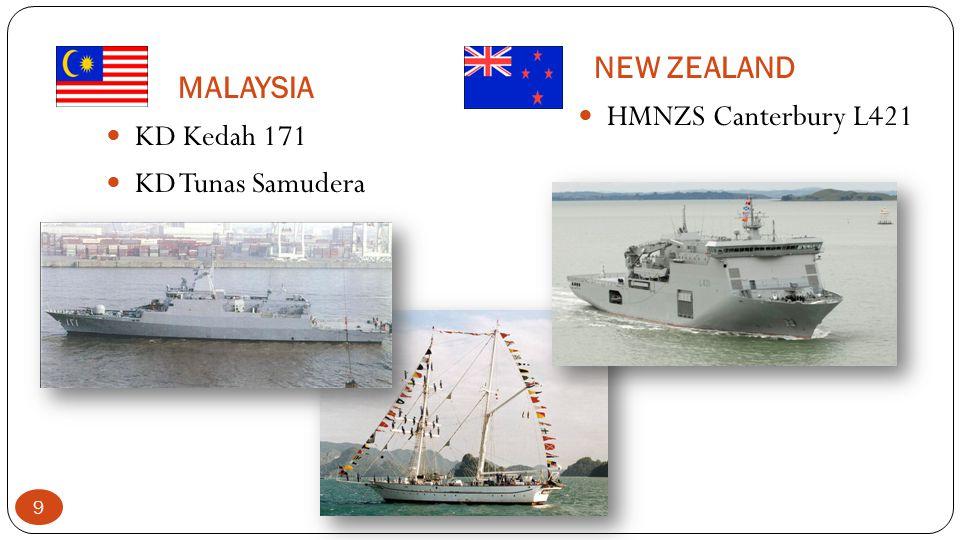 MALAYSIA NEW ZEALAND KD Kedah 171 KD Tunas Samudera HMNZS Canterbury L421 9