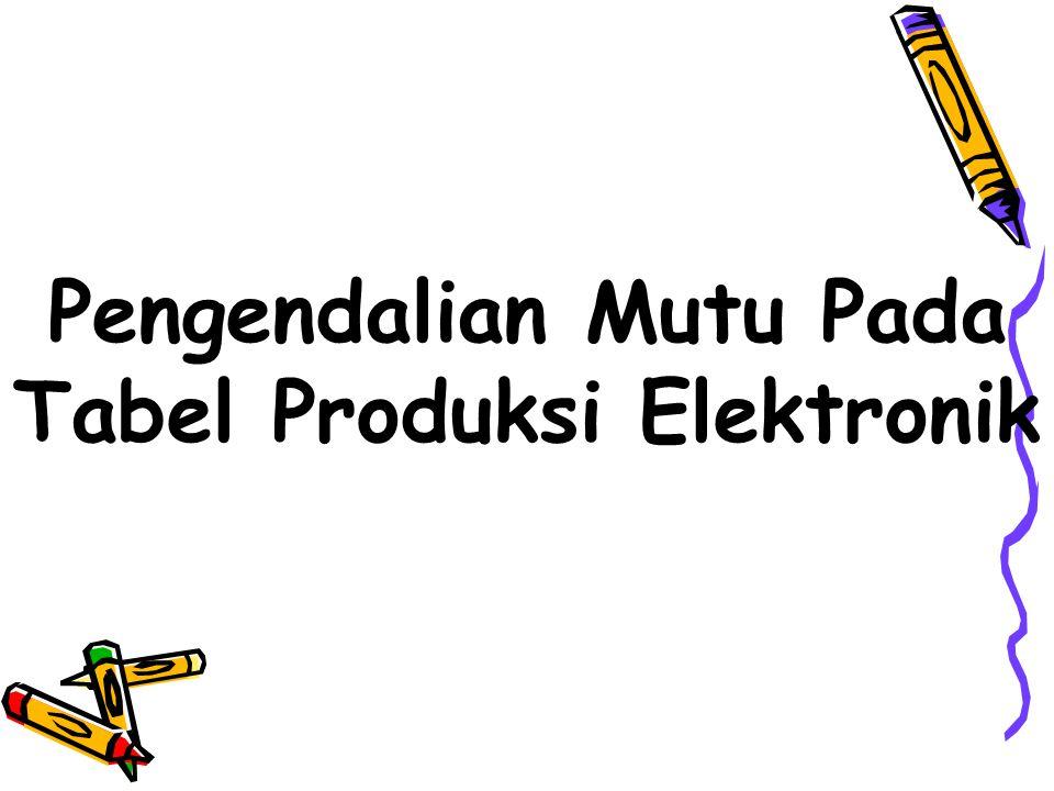 Pengendalian Mutu Pada Tabel Produksi Elektronik