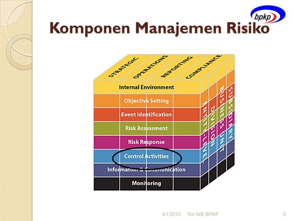 Komponen Manajemen Risiko 4/1/2015Tim MR BPKP3