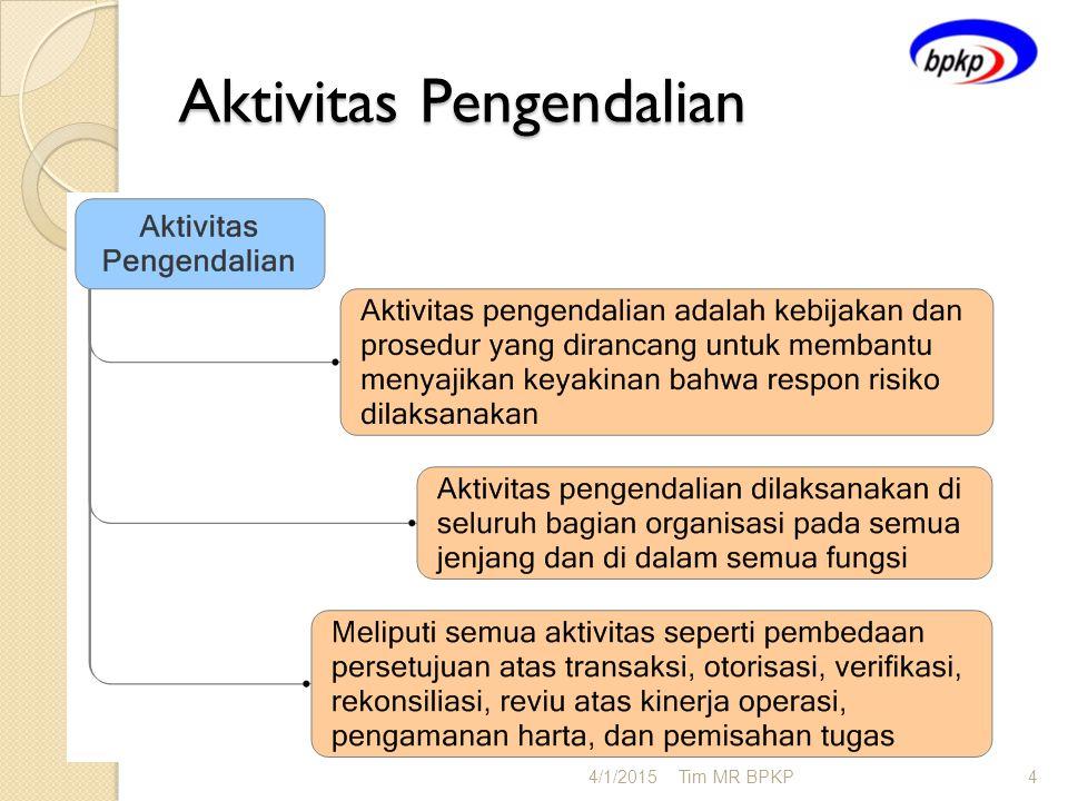 Aktivitas Pengendalian 4/1/2015Tim MR BPKP4