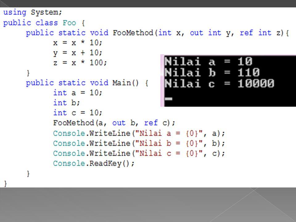  Seringkali dalam program kita ingin melakukan pengecekan untuk beberapa kemungkinan nilai dari suatu variable.