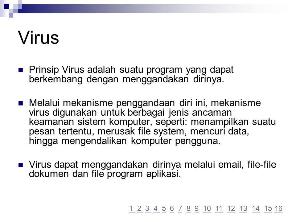 Kebijakan Sistem Keamanan Komputer Pengguna Jangan download executables file atau dokumen secara langsung dari Internet apabila anda ragu-ragu asal sumbernya.