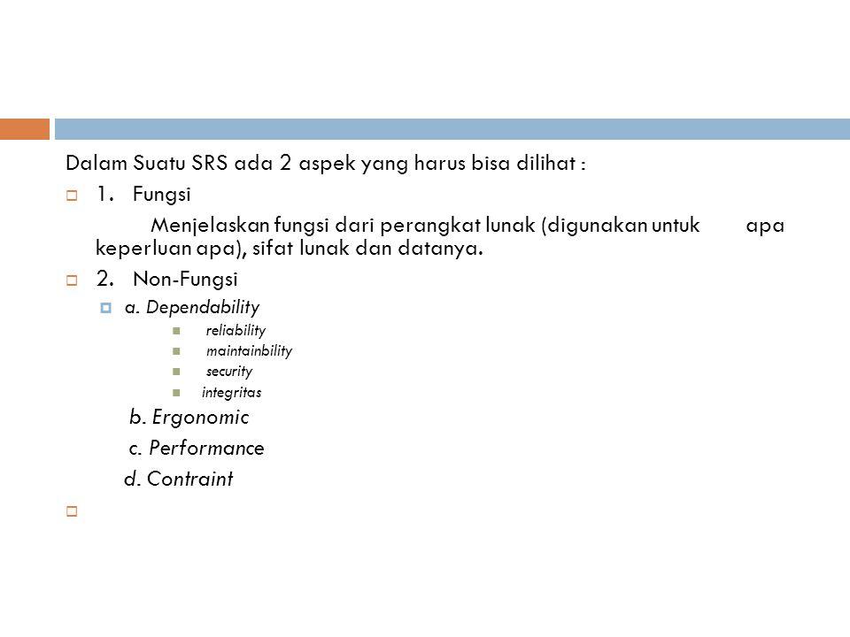 Atribut Suatu SRS 1.