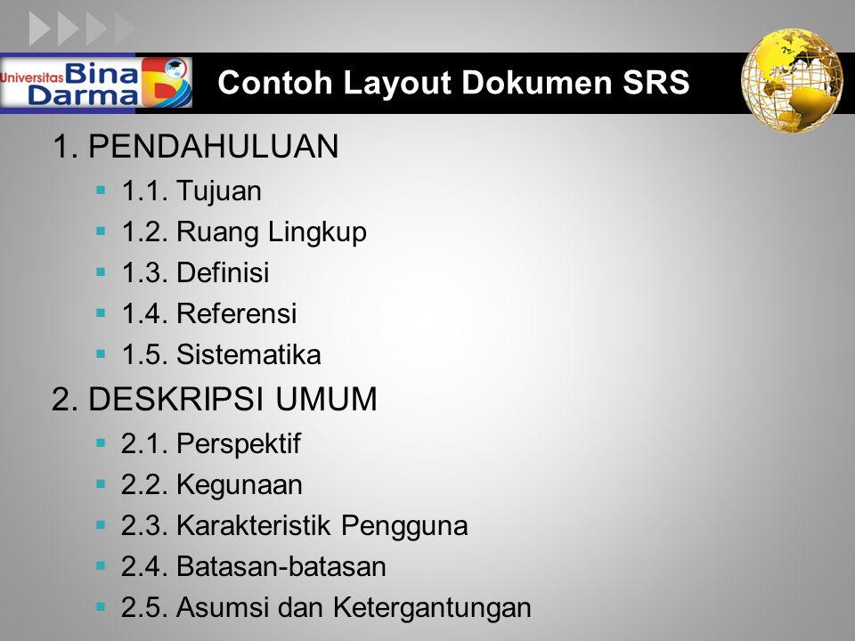 LOGO Contoh Layout Dokumen SRS 1.PENDAHULUAN  1.1.