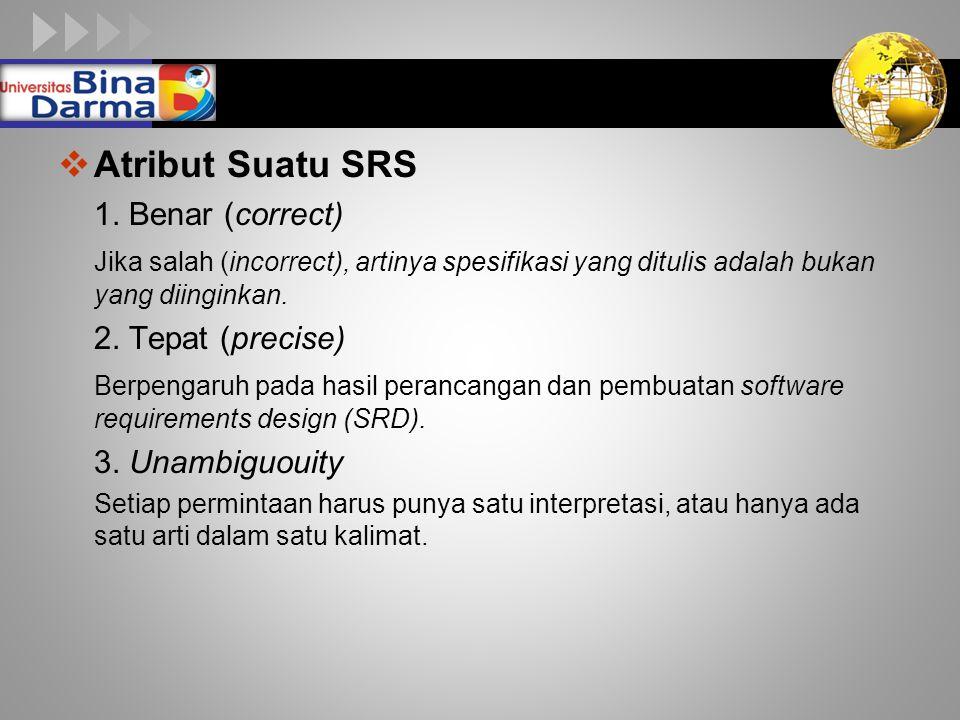 LOGO  Atribut Suatu SRS 1.